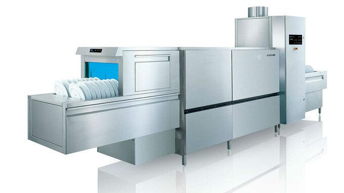Flight type warewashing machine upster b maximum for Machine plonge restaurant